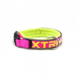 Zy.COLLAR X-TRM NEON FLASH FUCSIA 15mm x 28-35cm