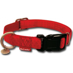 Collar Mac leather Rojo 15*120